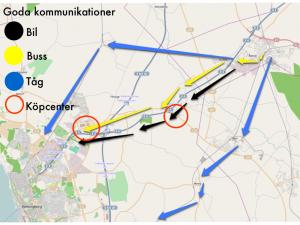 2. E4:an och andra goda kommunikationsvägar.
