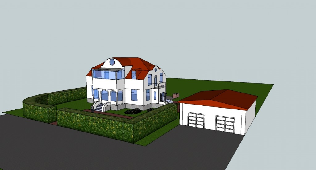 Villan i Google SketchUp. Bild: Ulf Liljankoski