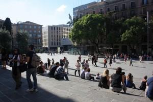 Trapporna som som leder upp till katedralen i Barcelona. Foto: Ulf Liljankoski