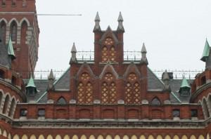 Takgavel i holländsk renässansen med detaljer som ger den gotiska drag.