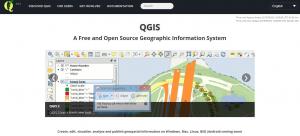 QGIS webbplats.