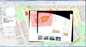 Bakgrundskarta, georefererade kartor och detaljplanegränser.
