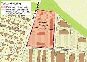Bilaga 1.2: Karta med en geografisk avgränsning, och specificerat område inom planområdet.