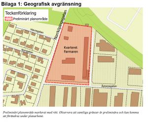 Bilaga 1: Karta med en geografisk avgränsning.